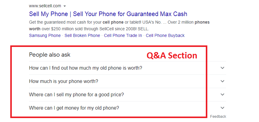 how to improve google search ranking by QA section